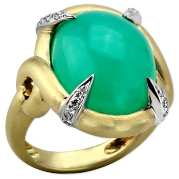 Chrysoprase Ring-344995