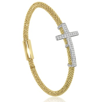 Yellow Cross Bling Bangle-344915