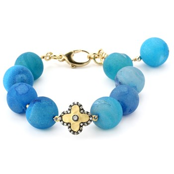 Lollies Blue Drusy Bracelet 344877
