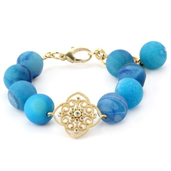 Lollies Blue Drusy Bracelet 344876