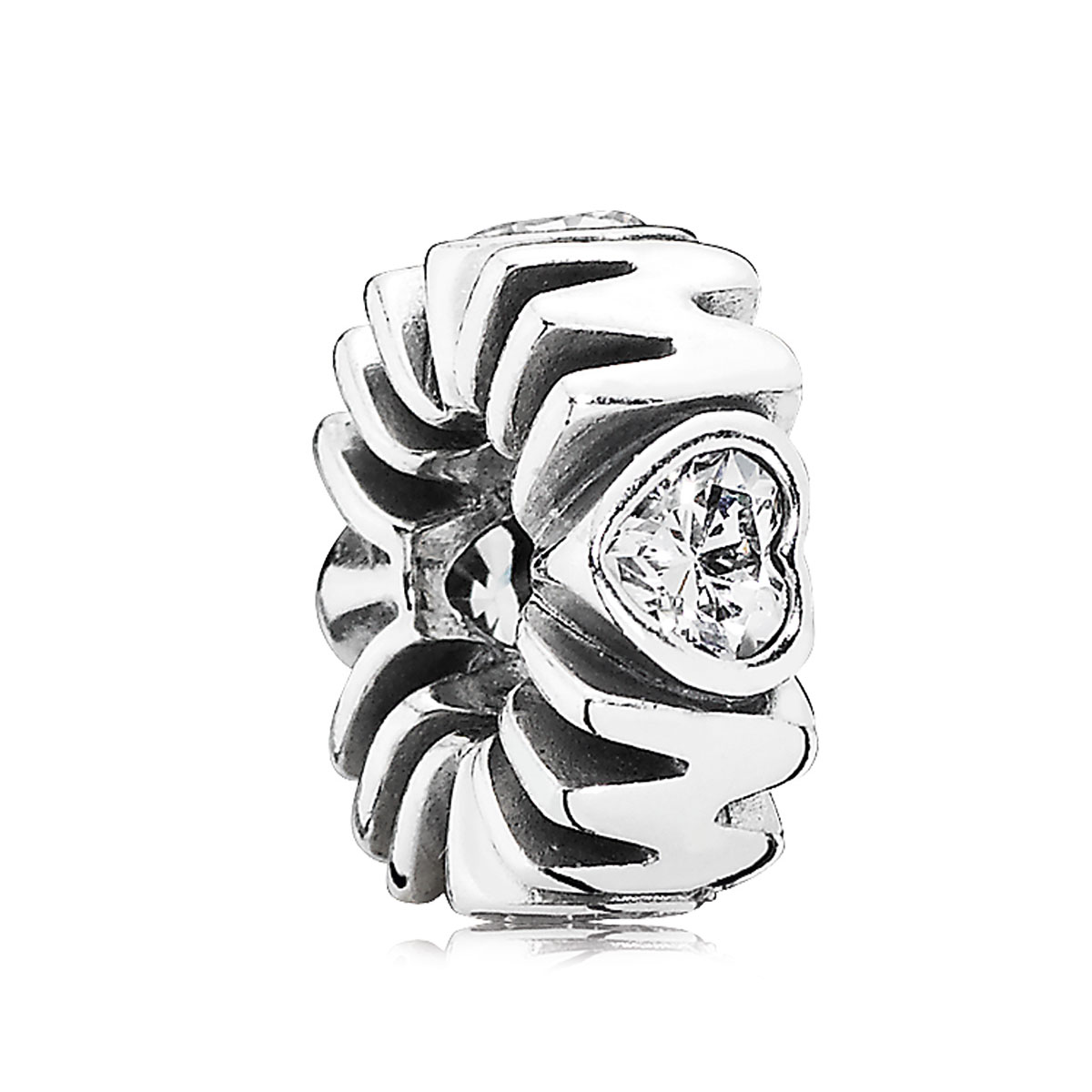 802-2948-PANDORA Mother's Pride with Clear CZ Spacer