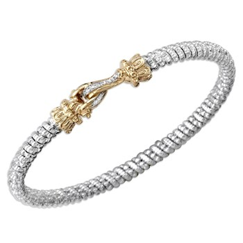 Slim Buckle Diamond Bracelet-340543