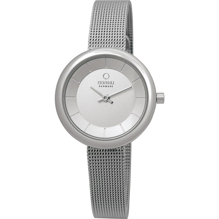 500-24-Obaku Women's Silver Mesh Watch