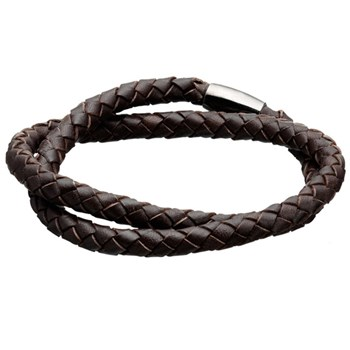 STORY by Kranz & Ziegler Double Wrap Brown Braided Leather Bracelet RETIRED ONLY 2 LEFT!