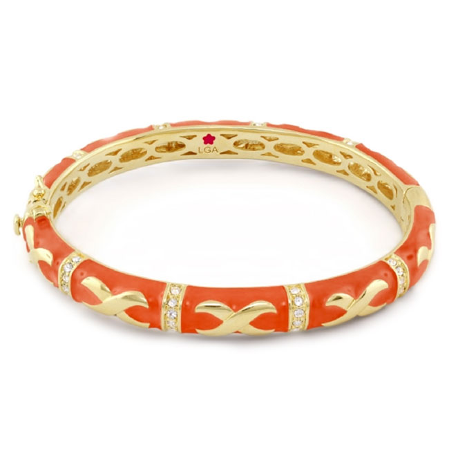 342512-Orange 'Elegant Hugs' Bangle