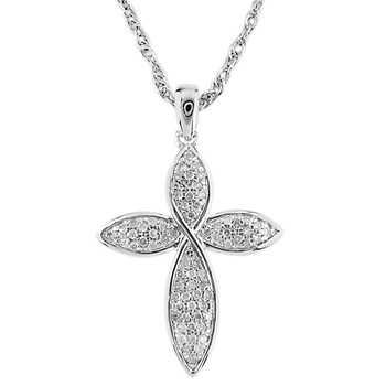 Diamond Cross Pendant-341552