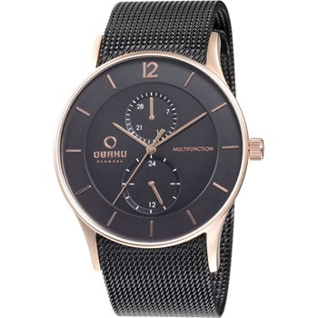505-1-Men's Black Mesh Watch