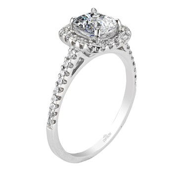 "Parade ""Hemera"" Square Halo Diamond Ring-345382"