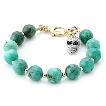 345079-Chrysoprase and Clear CZ Skull Lollie