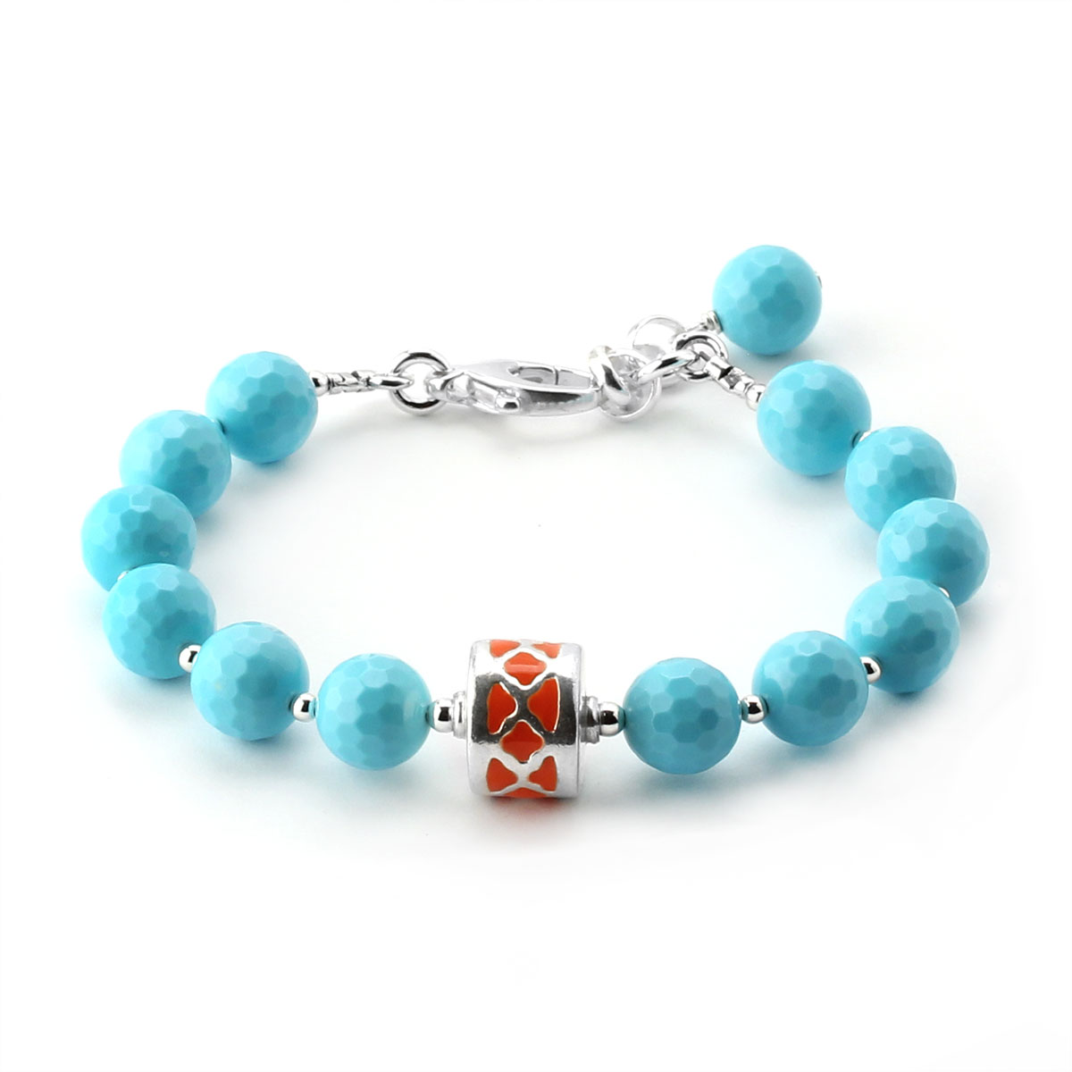 348630-Lollies Turquoise Glass Bracelet
