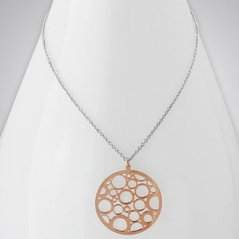 343267-Rose Rhodium Bubble Necklace ONLY 2 LEFT!