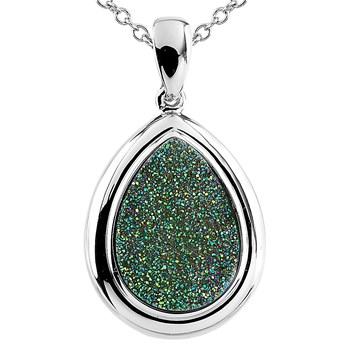 Limelite Teardrop Drusy Necklace-341997