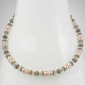 Button Pearl Necklace-222778