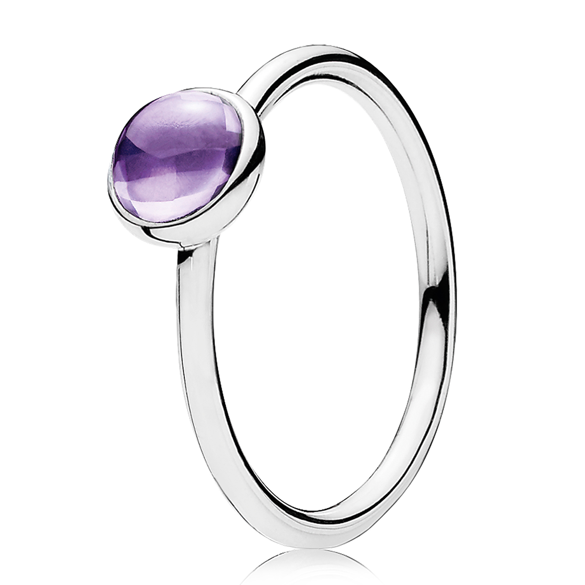 PANDORA Poetic Droplet Purple CZ Ring