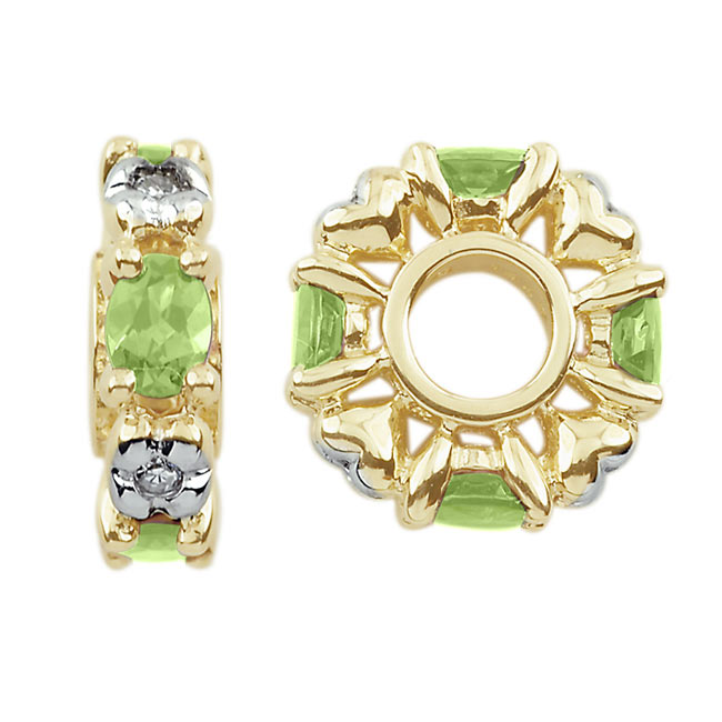 299435-Storywheels Peridot & Diamond 14K Gold Wheel ONLY 3 AVAILABLE!