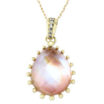 Pink Mother of Pearl Necklace-345465