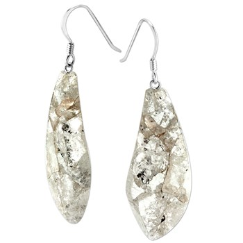 Silver in Quartz Earrings-343400