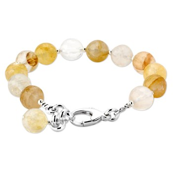 344871-Lollie Yellow Fire Agate Bracelet
