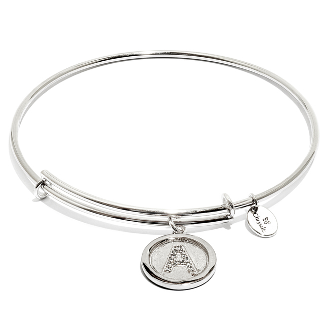 Chrysalis Silver-Colored Initial Bangle