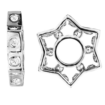 335684-Storywheels Diamond Star Sterling Silver Wheel ONLY 5 AVAILABLE!