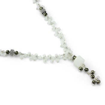 Moonstone & Pyrite Necklace-235-708