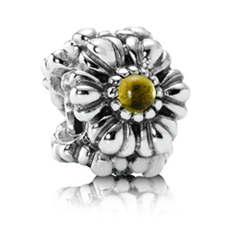 337214-PANDORA Birthday Bloom November with Citrine Charm RETIRED ONLY 3 LEFT!