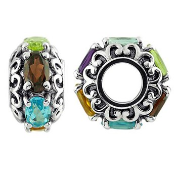 Storywheels Multi Stone Sterling Silver Wheel-333737