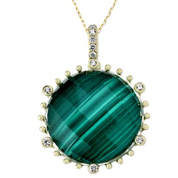 345449-Malachite Necklace
