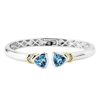 347129-Swiss Blue Topaz Bangle