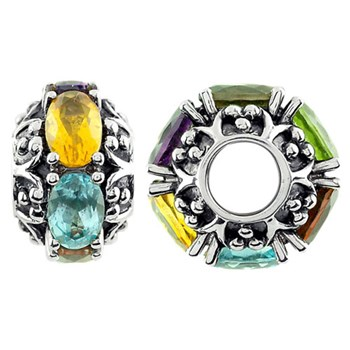 332881-Storywheels Multi Stone Sterling Silver Wheel