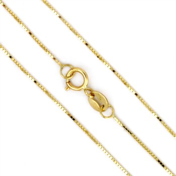 18'' 14K Yellow Gold Lite Box Chain-343626