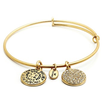 CRBT0104-APRIL Diamond Crystal Bangle - Chrysalis Good Fortune Collection
