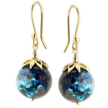 347571-Chrysocolla Earrings