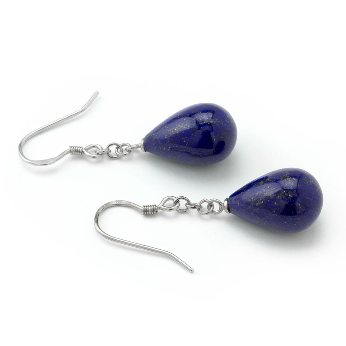 Lapis Small Chain Earrings-645-1054