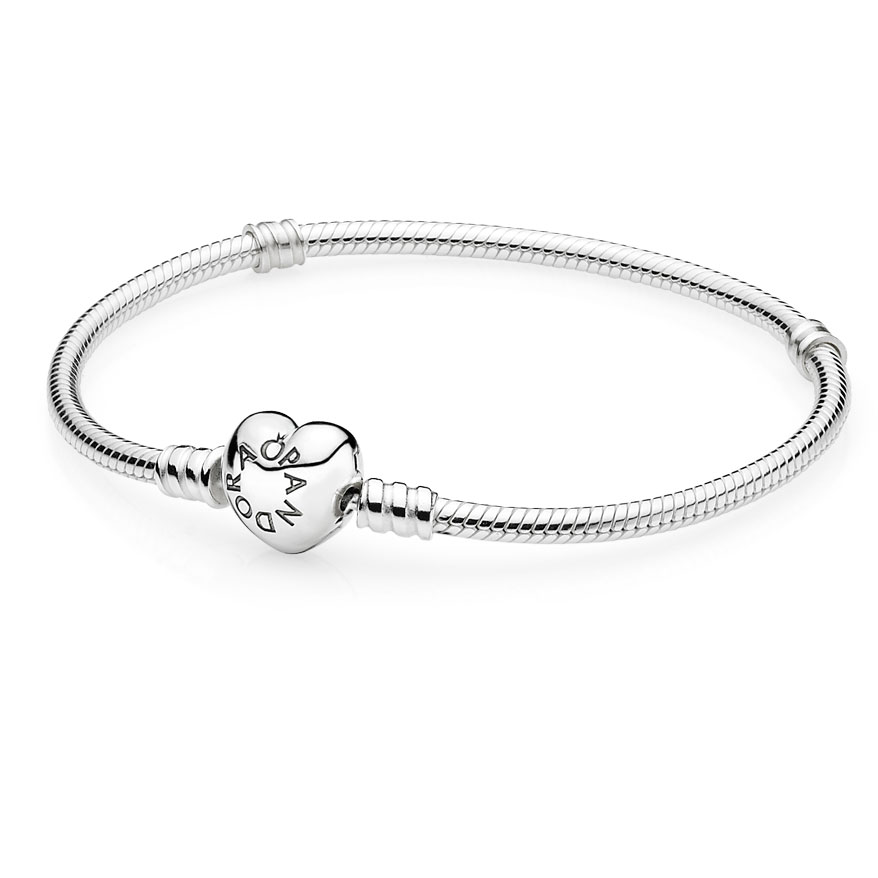 PANDORA Sterling Silver with Heart Clasp Bracelet