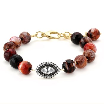 Lollies Red Agate Bracelet 344649
