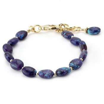 344978-Lollies Purple Turquoise Bracelet