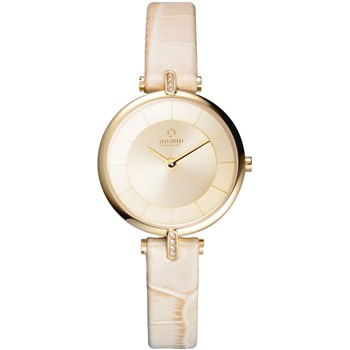 Women's Ivory Crocodile Leather Watch-500-32