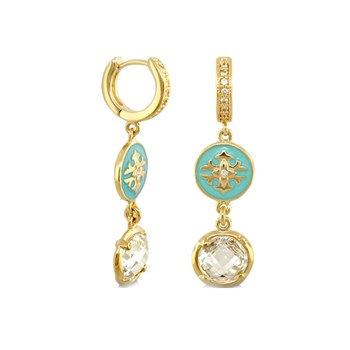 Green 'Mandarin Oriental' Earrings-346056