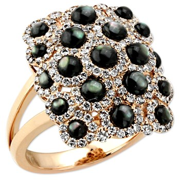 Black Luna Mosaic Ring-345015