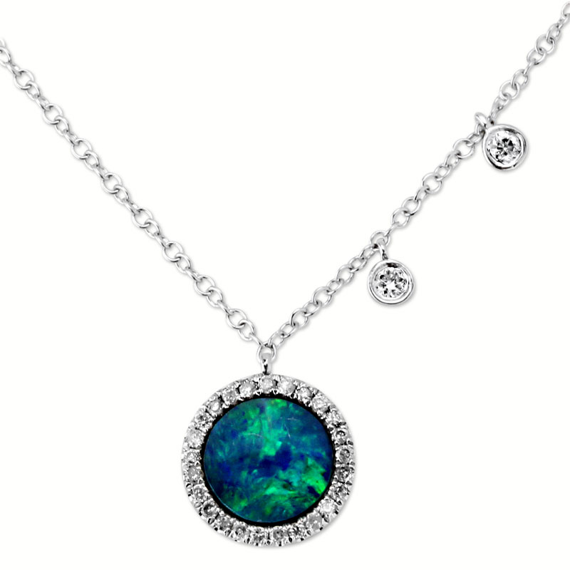 344781-Diamond and Opal Necklace