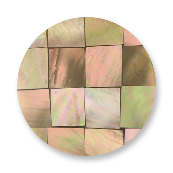 347298-Mi Moneda Gaudi Brown Mosaic Shell Disc - ONLY 1 LEFT