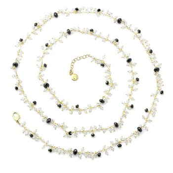 Quartz & Black CZ Necklace-235-453