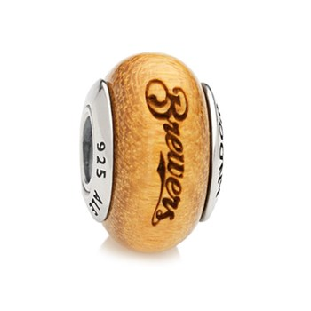345560-PANDORA Milwaukee Brewers Baseball Wood Charm RETIRED ONLY 4 LEFT!