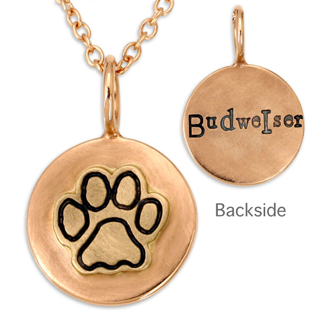 338462-Heather Moore Doggy Pawprint Charm