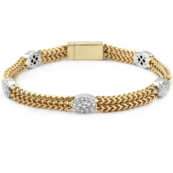 Diamond & Gold Bracelet-340514