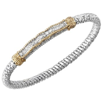 Wavy Bar Diamond Bracelet-340540