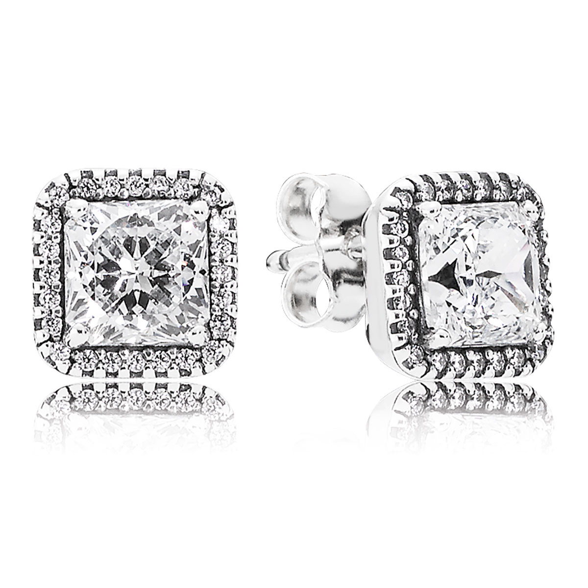 804-423-PANDORA Timeless Elegance with Clear CZ Stud Earrings