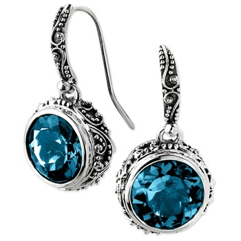 London Blue Topaz Earrings-345639