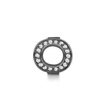 STORY by Kranz & Ziegler Black Rhodium Infinity Ring Button PRE-ORDER